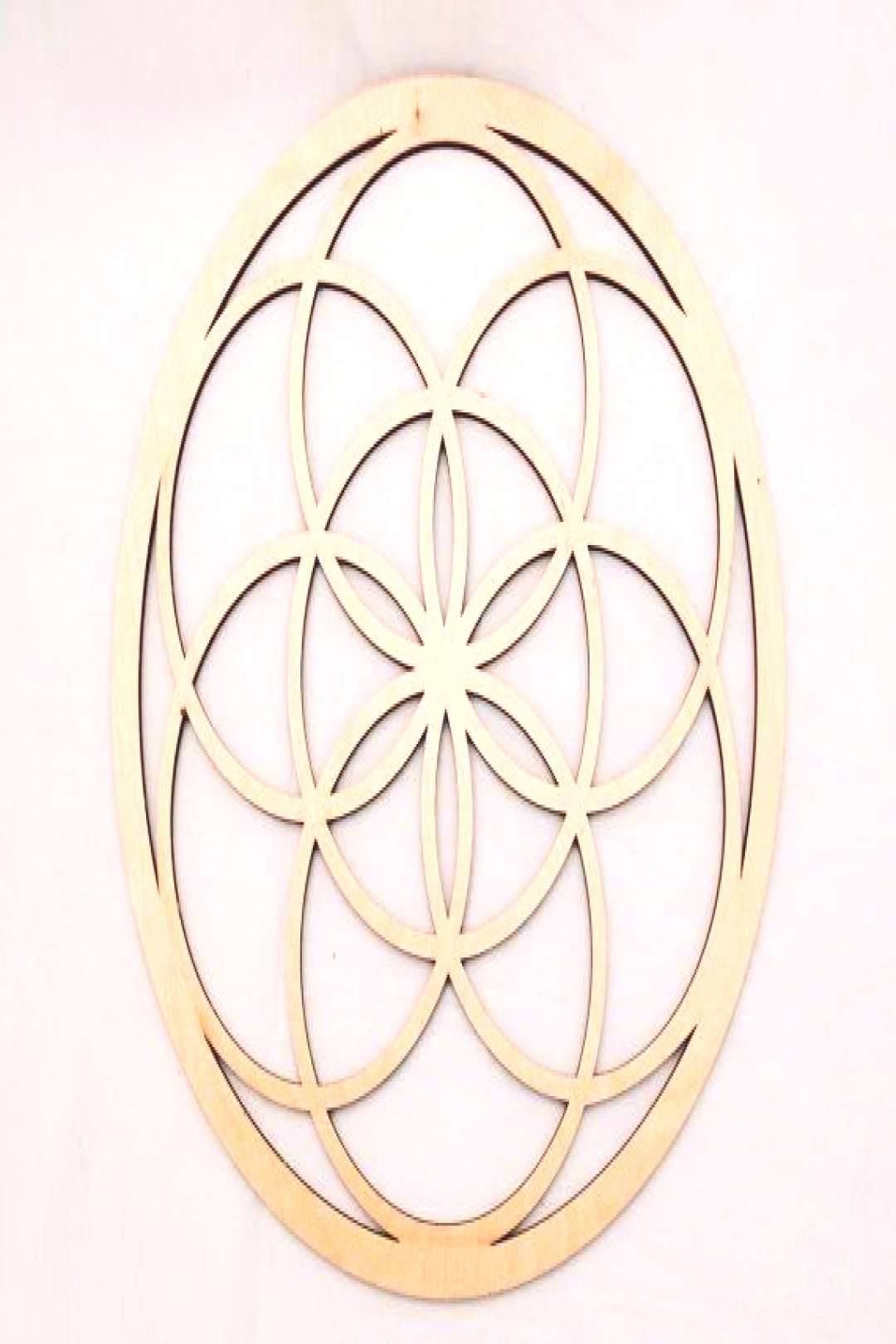 Seed of Life Wall Art  Raw Wood Home Decor by eyegrinddesign on Etsy