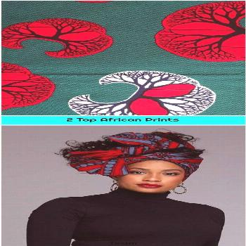 2 Top African Prints 1. African wax Print Fabric per yard/ for African Print dress African Clothing