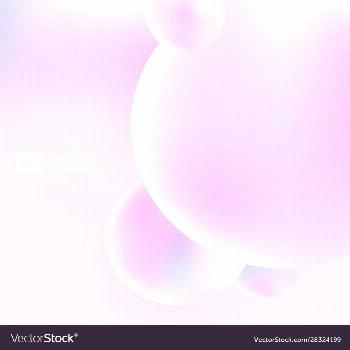 Abstract 3d circles bubbles pastel color Vector Image ,