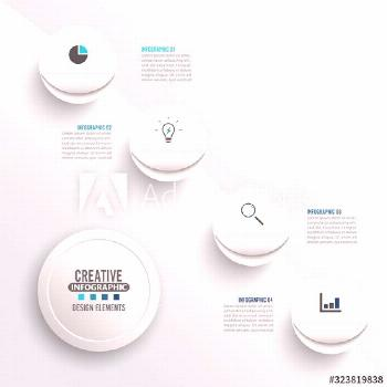 Abstract elements of graph infographic template with label, integrated circles. Business concept wi