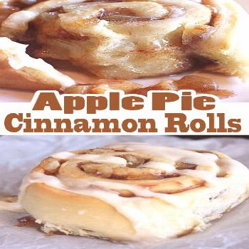 Apple Pie Cinnamon Rolls These are the rolls you dream about- soft in the center, with a cream fros