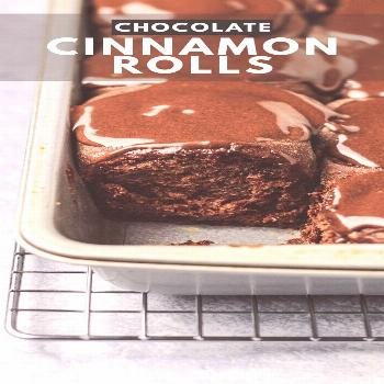 Chocolate Cinnamon Rolls - Deliciously soft and fluffy cinnamon rolls that are loaded with chocolat