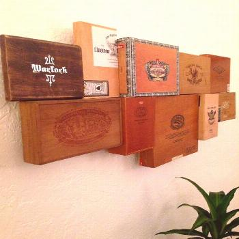 cigar-box-wall-art... I would make one in the middle into a clock