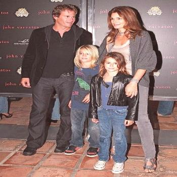Cindy Crawford Photos - Actress Cindy Crawford and her husband Rande Gerber with their kids Presley