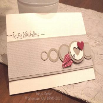 Clean & simple use of punched circles -  Clean & simple use of punched circles  -