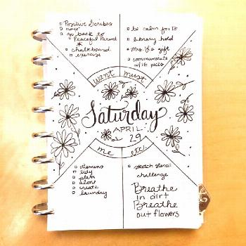Compass Protractor ™ bullet journal template makes perfect concentric circles in your bullet jour