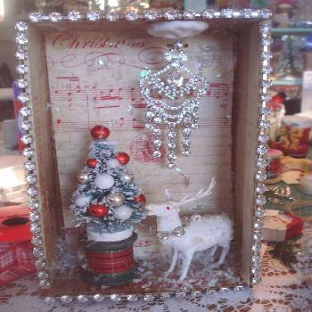 Curtains In My Tree: Chandelier Cigar Box