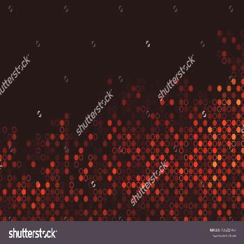 Dark Red, Yellow vector template with circles. Illustration with set of shining colorful abstract c