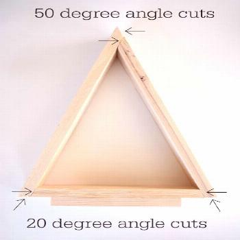 DIY Wooden Triangle Christmas Trees. Make your own wooden trees with these easy instructions AND vi