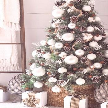 Farmhouse White Christmas Tree