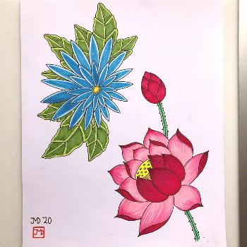 Flowers... available to tattoo . . . . . . . . . . . . . .