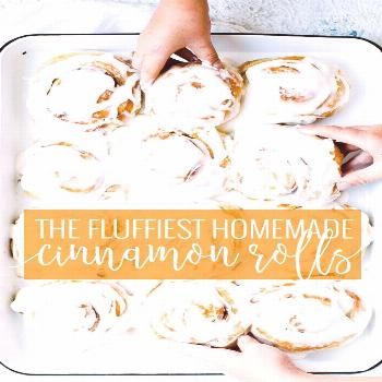 Fluffy Cinnamon Rolls  This fluffy cinnamon roll recipe will knock your socks off and be a timeless