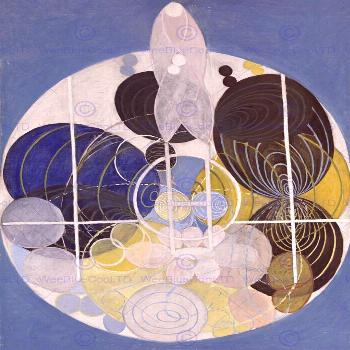 HILMA AF KLINT ABSTRACT CIRCLES PAINTING ART PRINT POSTER PICTURE HP373  | eBay -   -