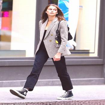 Keeping it casual: While Cindy upped the glam for the lunch date, her model daughter Kaia,...