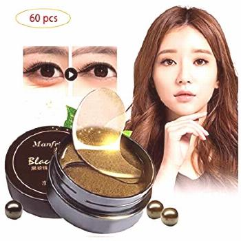 Korean 60 psc Black Gold Pearl Collagen Eye Patch | Anti Wrinkle Eye Mask Gel Sleep Mask Dark Circl