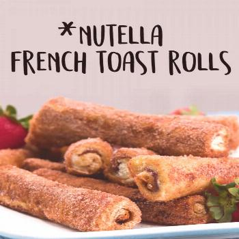 Nutella French Toast Rolls Sweet success! These indulgent breakfast pastries create the perfect uni