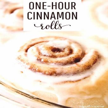 One-Hour Cinnamon Rolls - Super soft and delicious cinnamon rolls slathered with an amazing melt-in