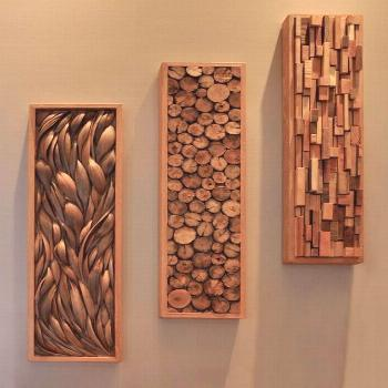 palm paddles, driftwood and wood scraps -  palm paddles, driftwood and wood scraps  -