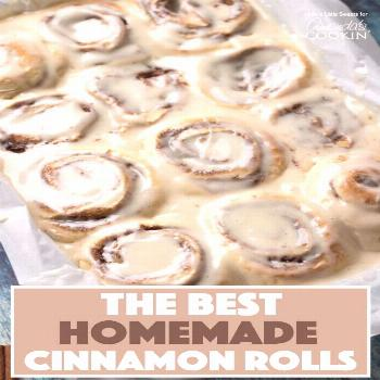 These Homemade Cinnamon Rolls are a true classic. Topped with cream cheese frosting, these gooey ci