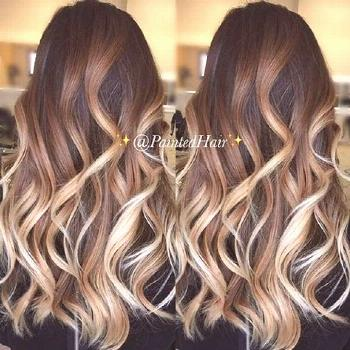 These sweeping chunky highlights#chunky