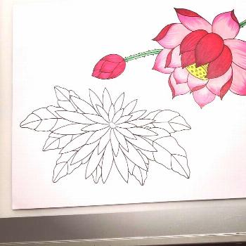 Time lapse flower coloring with Copic markers... possible tattoo designs... . . . . . . . . . . . .
