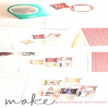 Tutorial | Pinched Circles  Try this for embellishments / scrapbook -  Tutorial | Pinched Circles