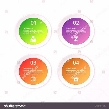 Vector illustration infographics four circles. ,