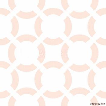 Vector seamless pattern. Simple geometric texture with curved shapes, circles, rounded grid. Abstra