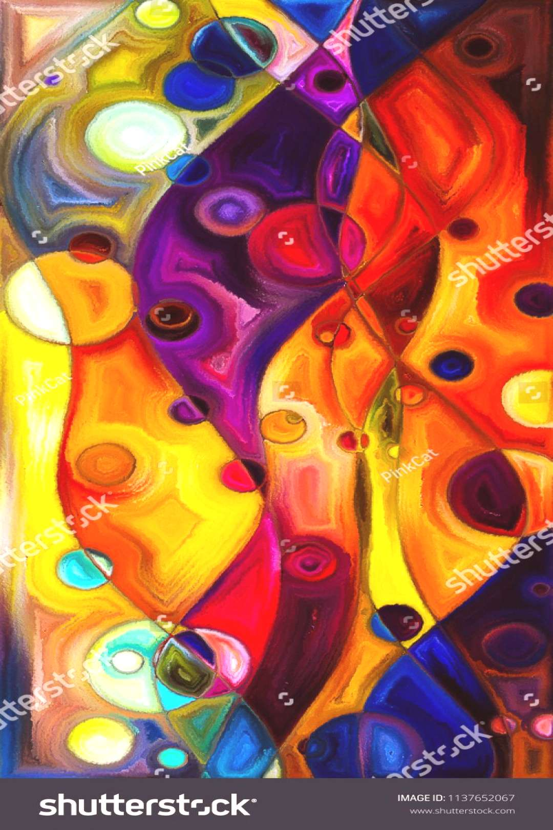 Abstract Background of circles and curves on subject of modern art ,