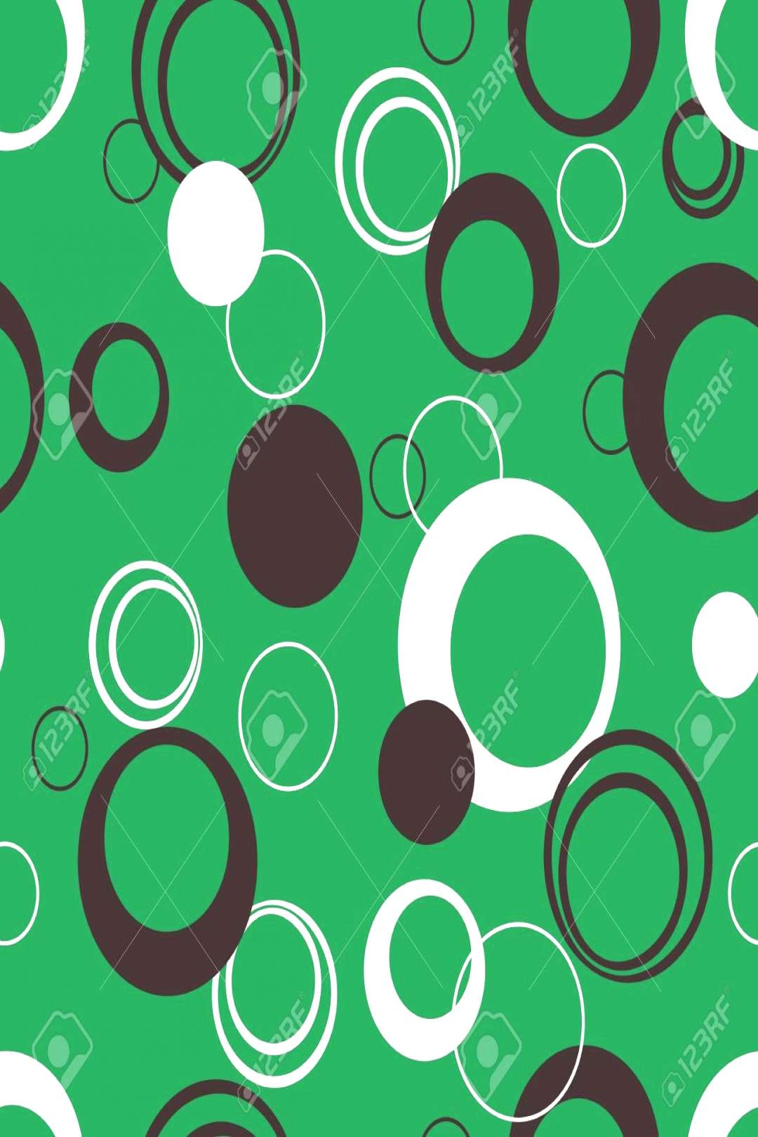 Abstract background with black and white circles. Illustration ,