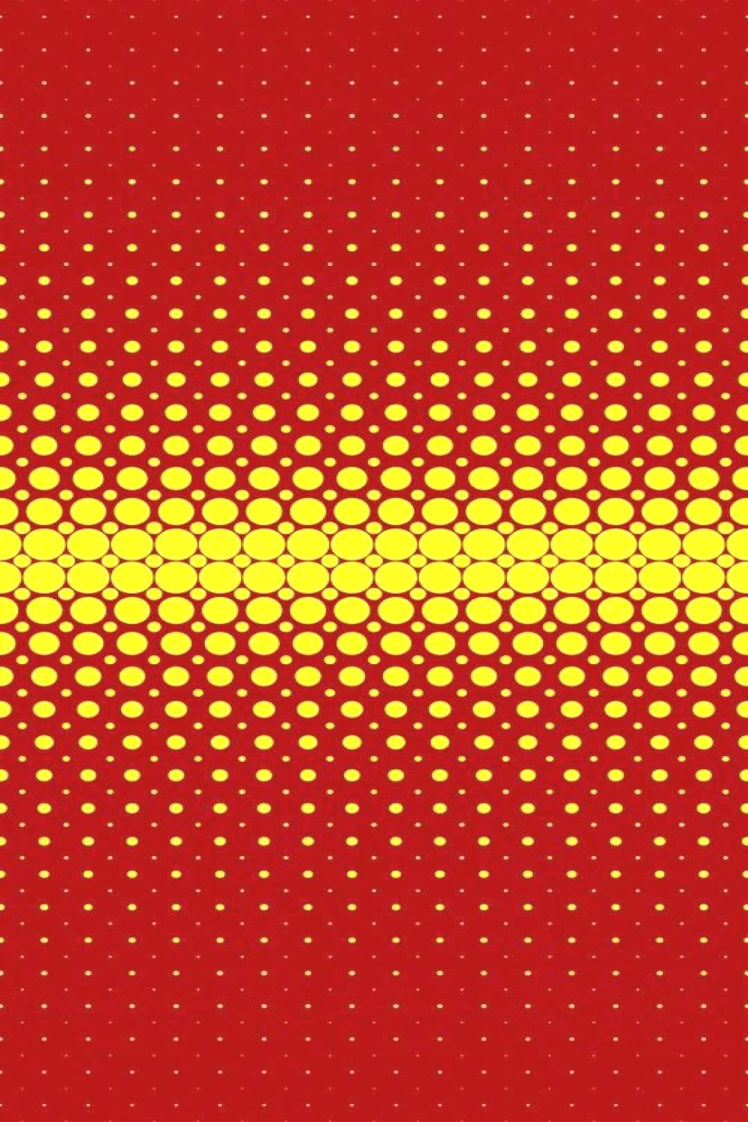 Abstract geometrical halftone dot pattern background - vector graphic from yellow circles on maroon