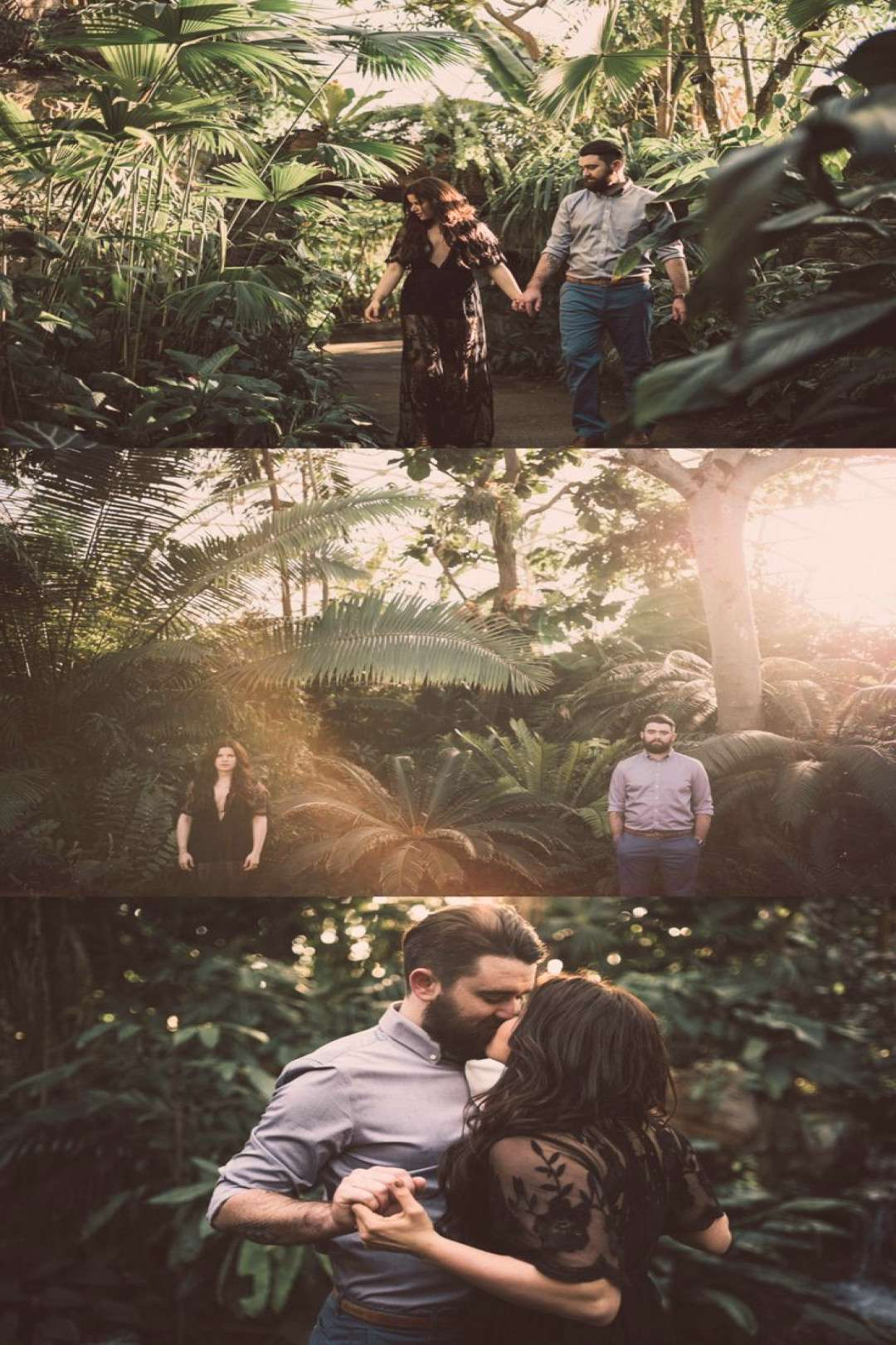Botanical Gardens Engagement Session - Couples session in greenhouse - MoBot - M... - Botanical Ga