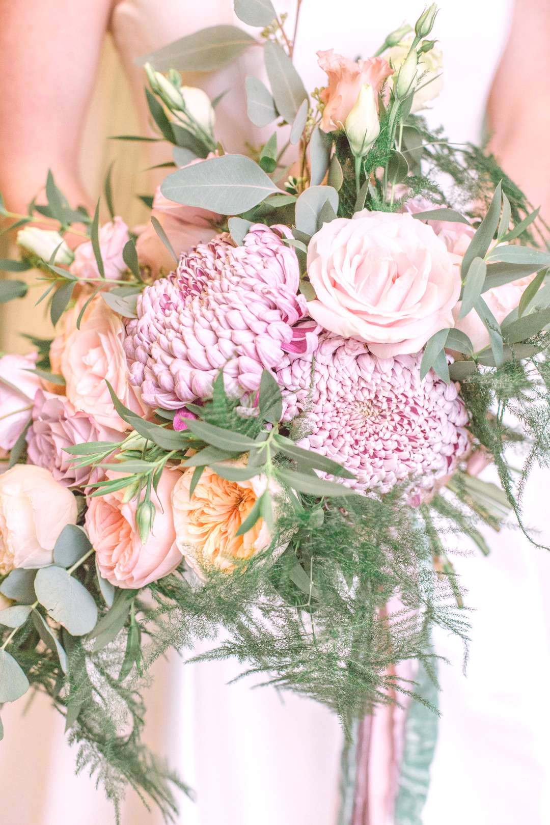 Bridal Bouquet We absolutely adore creating bouquets for our brides. This pastel palette consisted