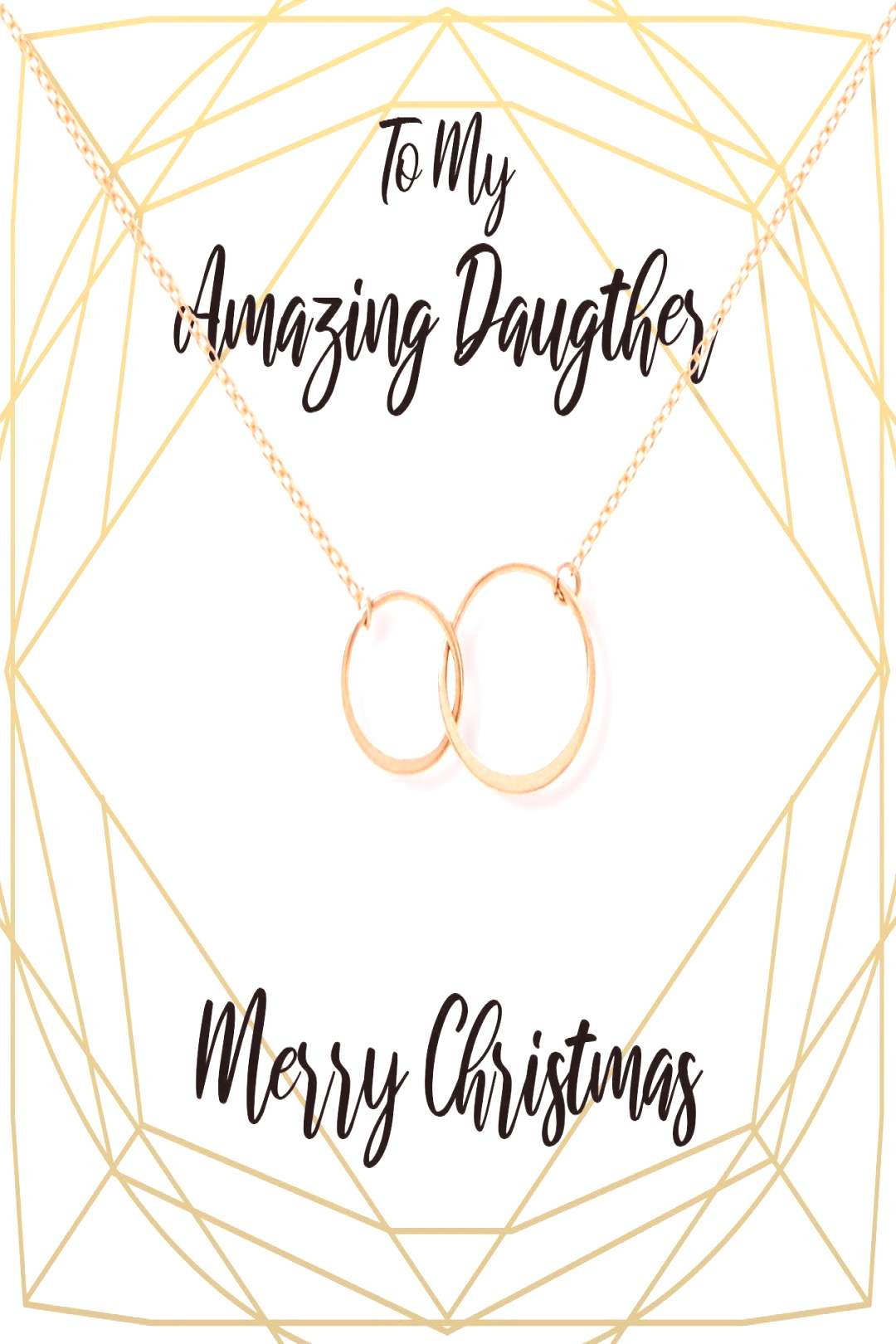 Christmas Gift for Daughter: Present, Necklace, Jewelry, Xmas Gift, Holiday Gift, Gift Idea, ... Ch