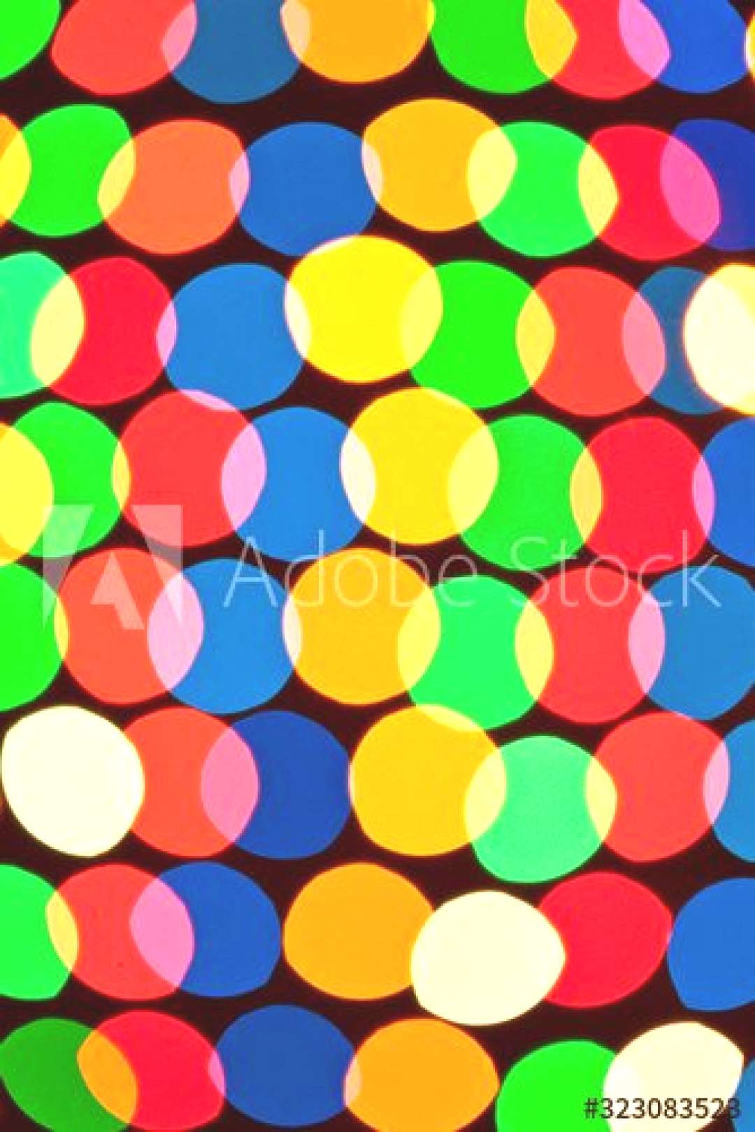 Close-up of colored circles glow ,