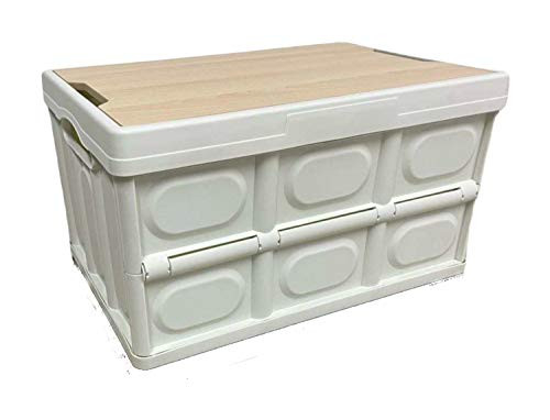 Collapsible Storage Bin with Tabletop Lid Foldable Storage