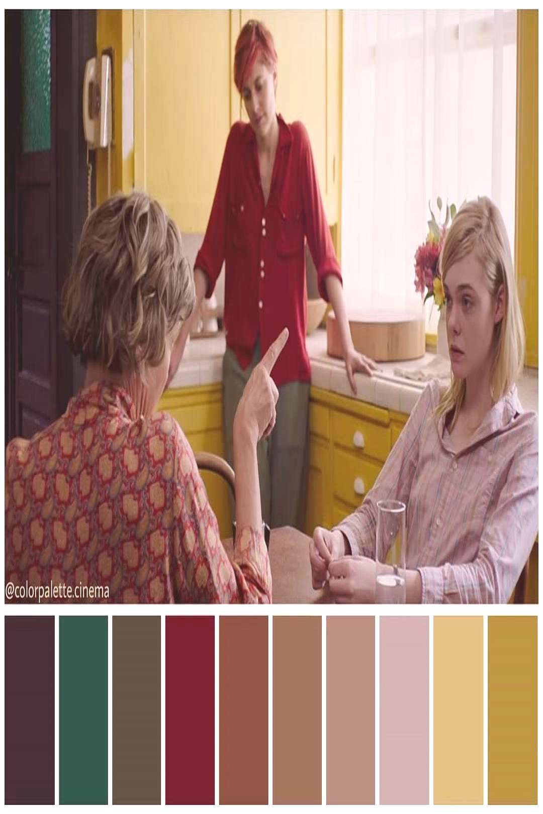 """Color Palette Cinema on Instagram: """": """"20th Century Women"""" (2016). •Directed by Mike Mills"""