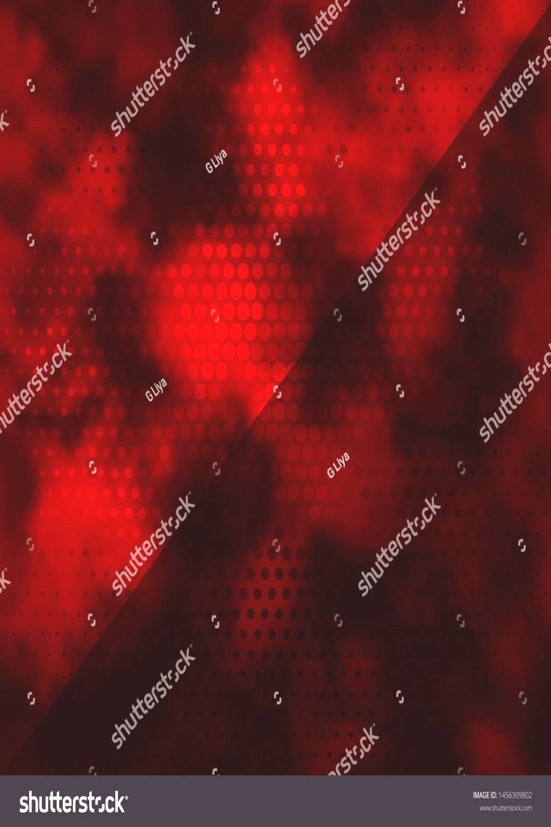 Dark Red vector pattern with circles. Abstract colorful disks on simple gradient background. Patter