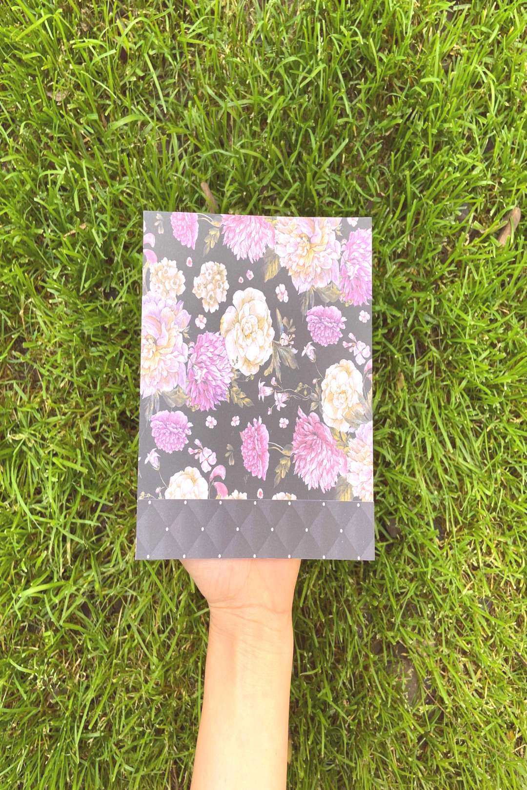Excited to share this item from my shop: Handmade Black and Purple Floral Greeting Card
