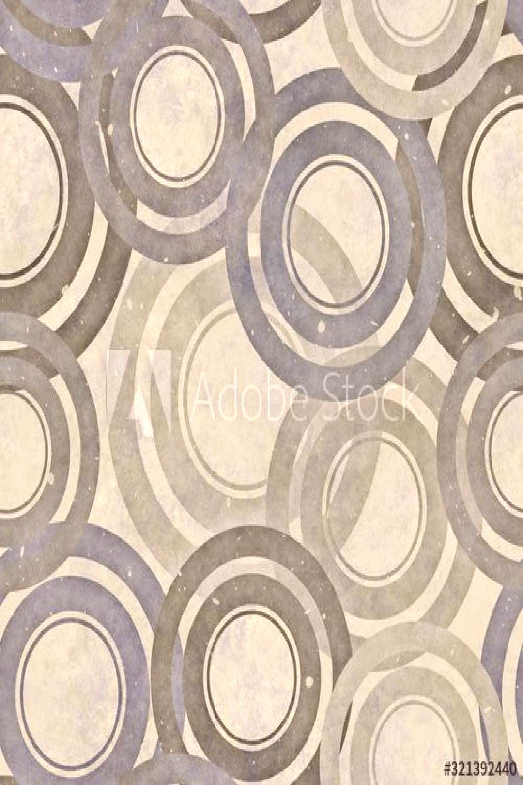Grunge, circles and vintage color with pattern, seamless texture, 3d illustration ,