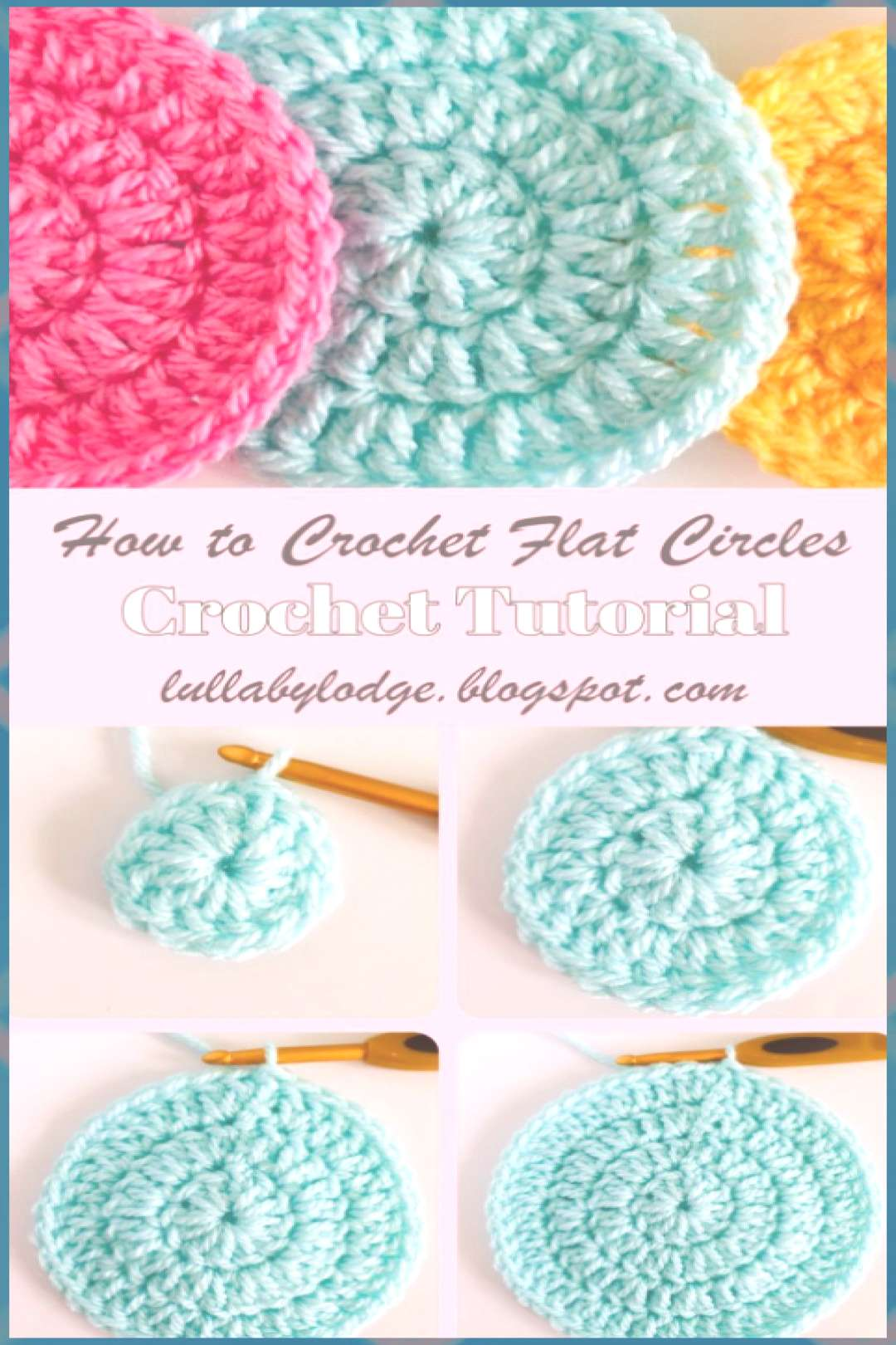 How to crochet flat circles, three different ways...