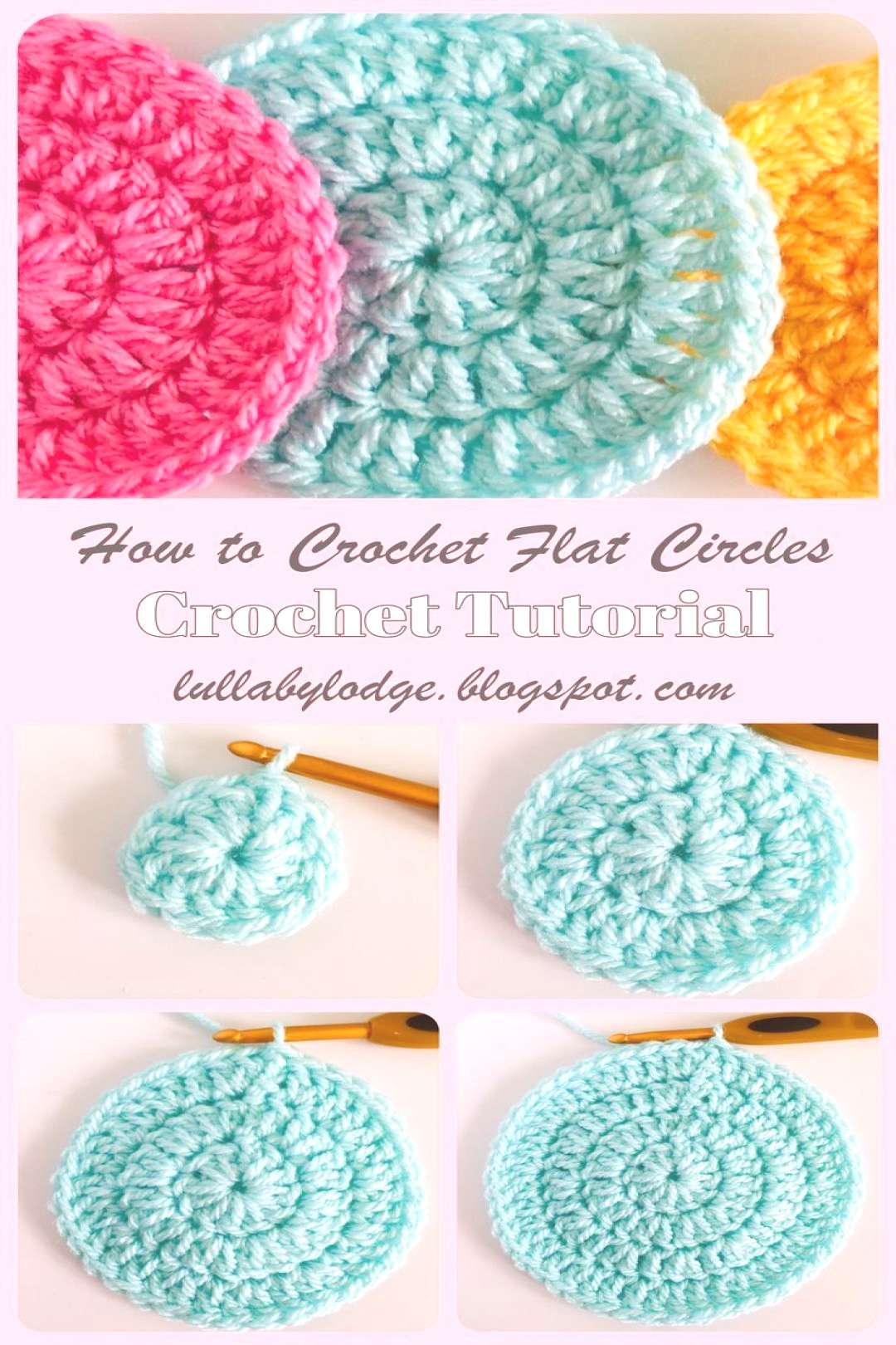 How to crochet flat circles, three different ways... - Learn how to crochet circles that lie flat