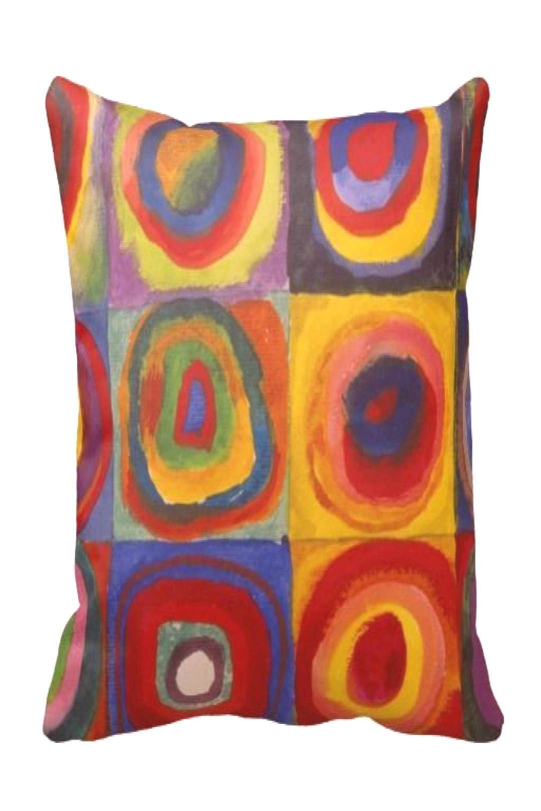 Kandinsky Color Study of Squares & Circles Throw Pillow |  -   -