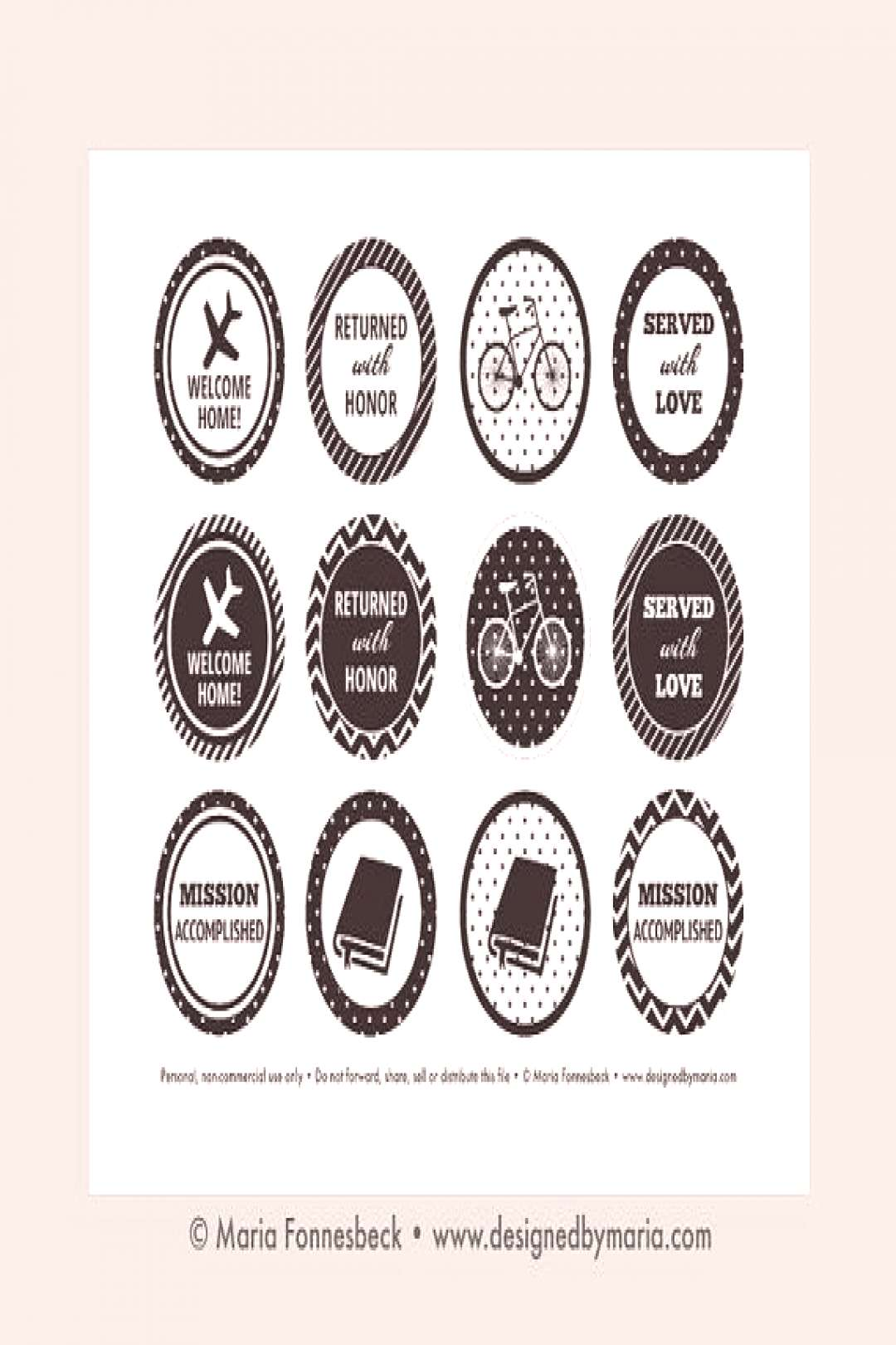 LDS Missionary Welcome Home Cupcake Toppers Printable: 2 Party Circles -- Return... - -