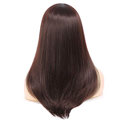 Long Straight Highlights Wigs for Women Synthetic Blonde