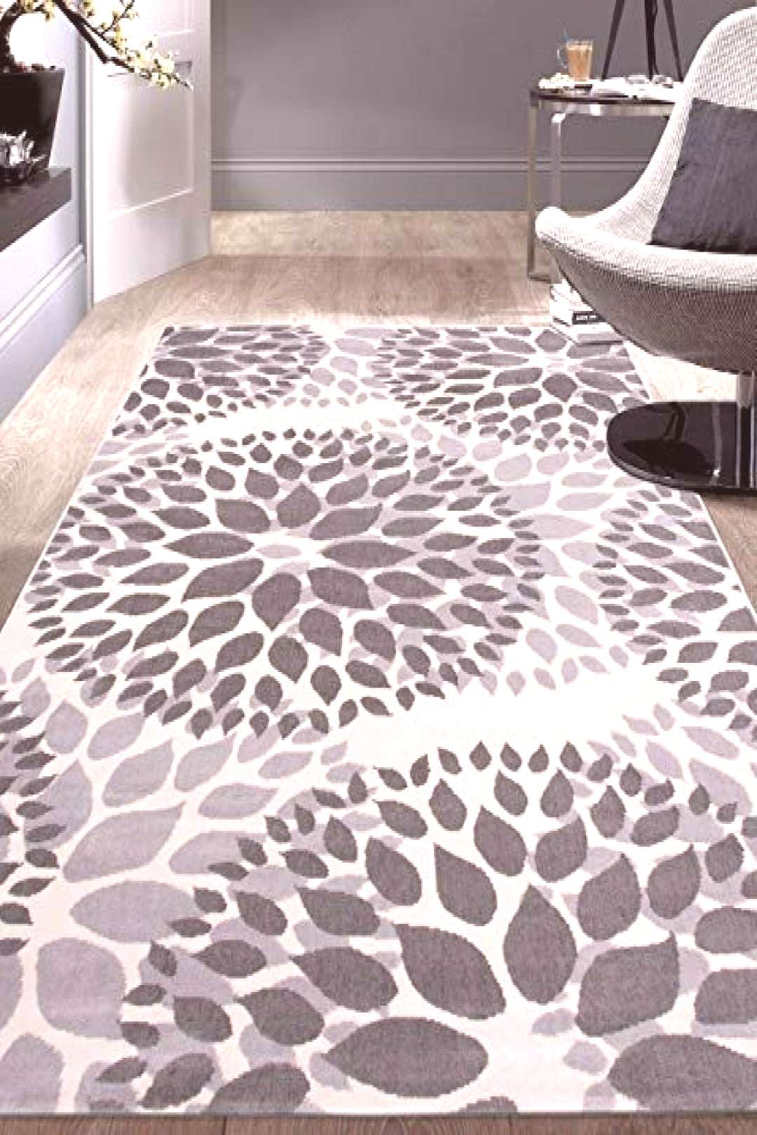 New Modern Floral Circles Design Area Rugs 10' x 14' Gray online - Thechicfashionideas  Chic Modern