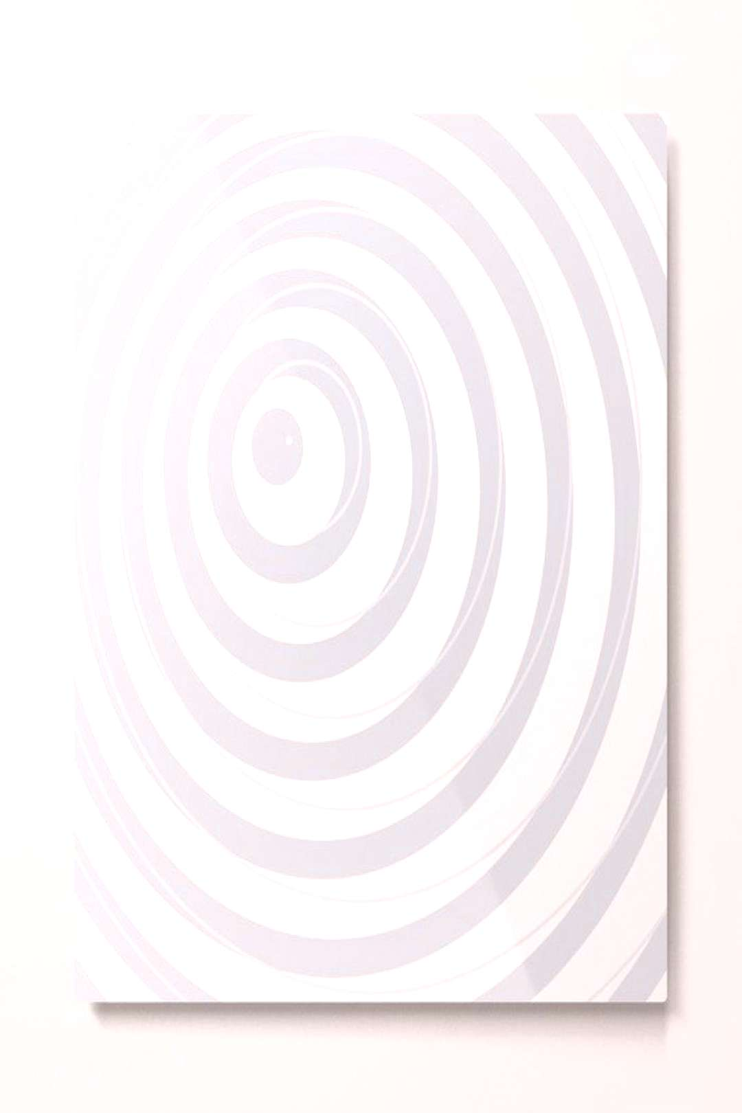 orbits - circle pattern in ice gray and white Metal Print by vrijformaat
