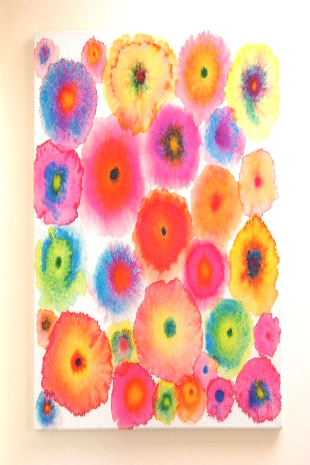 Pink Large Abstract Print Canvas - Circles - Flowers - Colorful - Blooms 2 Pink - Ltd Edition#abstr