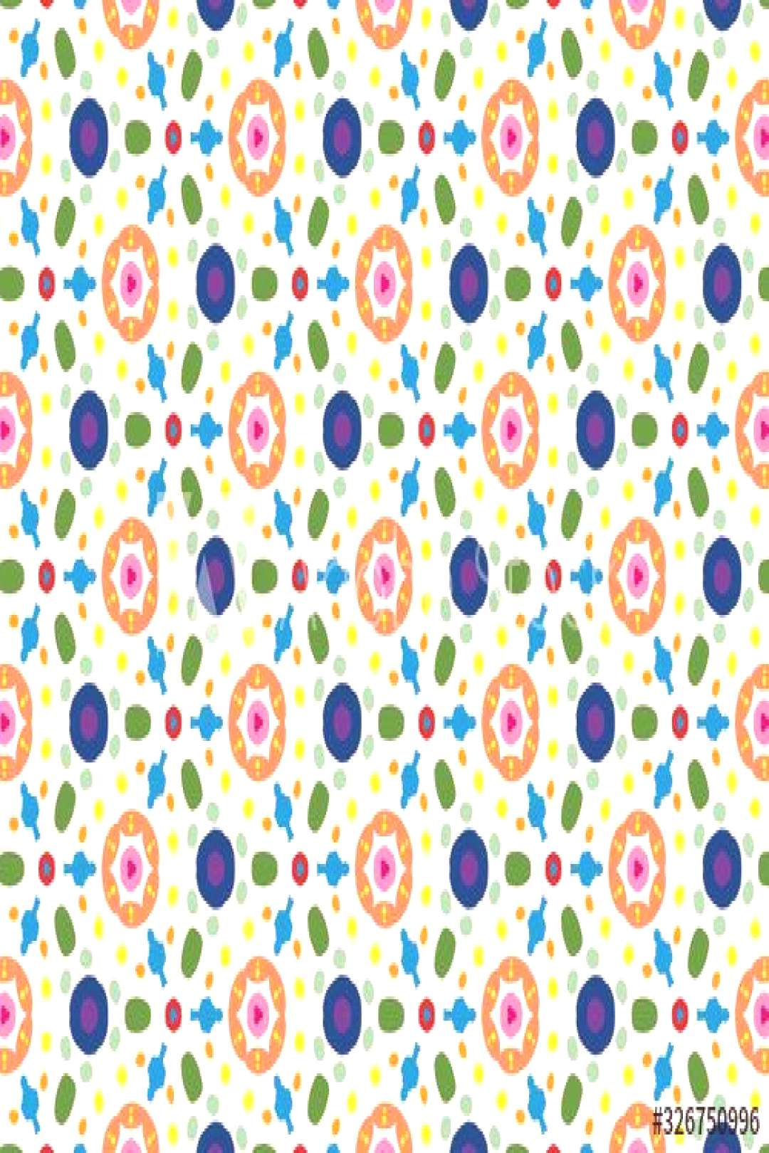 seamless pattern with circles and other shapes ,