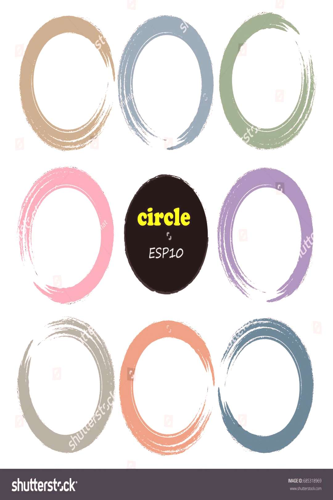 Set of 9 circles,Vector design elements. ,
